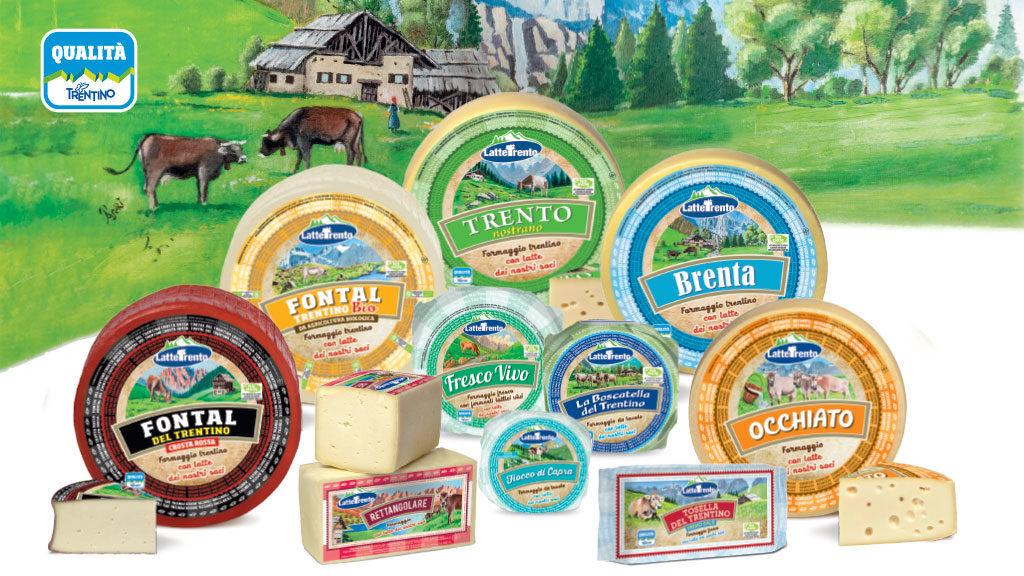 Nuovi formaggi Latte Trento
